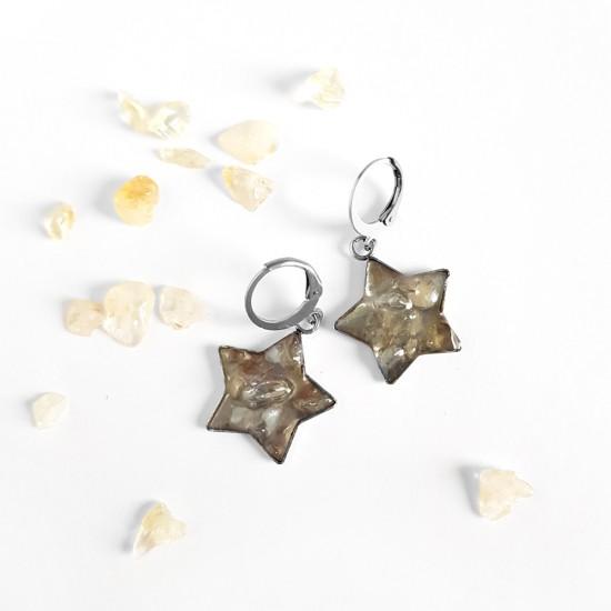 Kolczyki wiszące gwiazdki...