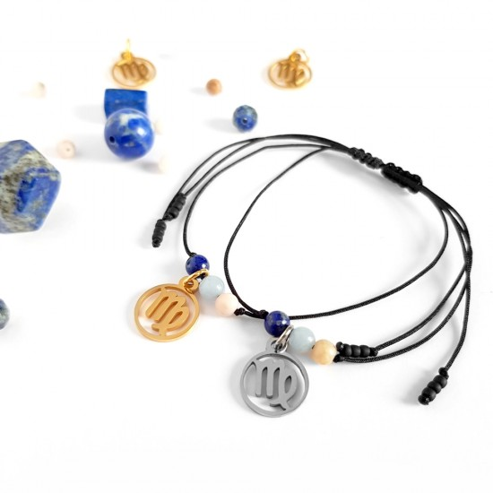 Bransoletka lapis lazuli,...