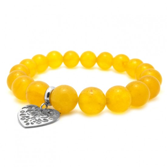 Żółta bransoletka dla...