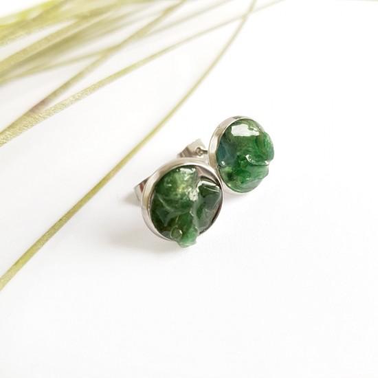 Kolczyki sztyfty zielony...