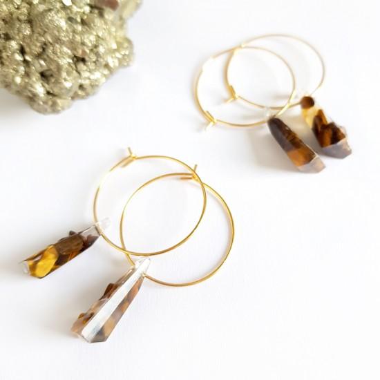 Brzoskwiniowa bransoletka dla dzieci ze szklanych koralików medalion