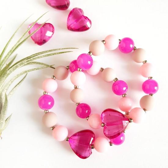 Różowa bransoletka dla...