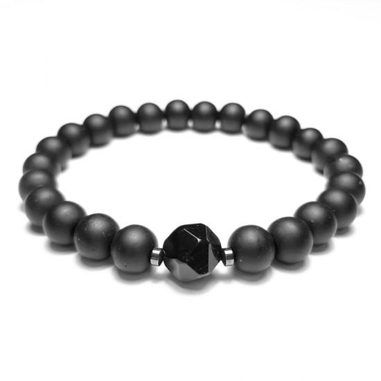 Czarne kolczyki koła Glitter ring black