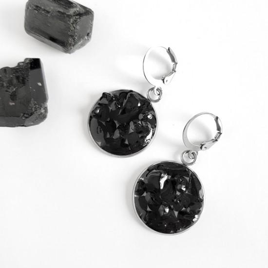 Kolczyki wiszące czarny...